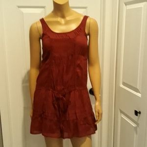 Abercrombie & Fitch burgandy sundress extra small